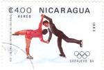 Stamps : America : Nicaragua :  Juegos Olímpicos Sarajevo