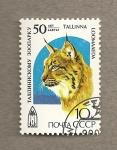 Stamps Russia -  50 Aniv. Zoo de Tallin, Estonia