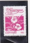 Sellos del Mundo : America : Nicaragua : Flor- tecoma stans