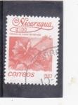 Stamps : America : Nicaragua :  Flor-hibiscus rosa