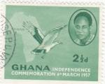 Stamps : Africa : Ghana :  Conmemoración Independencia