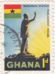 Sellos de Africa - Ghana -  estatua Nkrumah