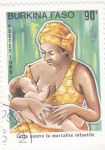 Stamps Burkina Faso -  Lucha contra la mortalidad infantil