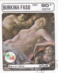 Stamps Burkina Faso -  Pintura-MARTE Y VENUS- Botticelli