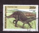 Stamps Africa - Republic of the Congo -  serie- Dinosaurios