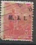 Sellos de America - Argentina -  INTERCAMBIO MINISTERIO DE JUSTICIA e INSTRUCCION PUBLICA SCOTT OD186
