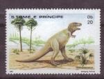 Sellos de Africa - Santo Tomé y Principe -  Dinosaurios