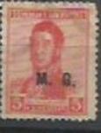 Sellos de America - Argentina -  INTERCAMBIO MINISTERIO DE GUERRA SCOTT OD59