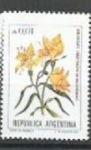 Sellos de America - Argentina -  INTERCAMBIO Serie Flores Australes 0.01 Amancay SCOTT 1516