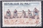 Sellos de Africa - Mali -  pescadores con red