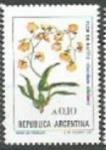 Sellos de America - Argentina -  INTERCAMBIOSerie Flores Australes 0.10 Flor de Patito SCOTT 1520