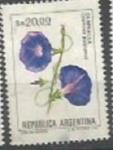 Sellos de America - Argentina -  INTERCAMBIO Serie Flores Pesos Argentinos 20 CampanillaSCOTT 1440