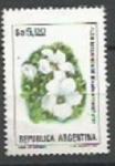 Sellos de America - Argentina -  INTERCAMBIO Serie Flores Pesos Argentinos 5 Flor Malvinense SCOTT 1438