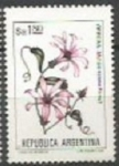 Sellos de America - Argentina -  INTERCAMBIO Serie Flores Pesos Argentinos 1 Lapacho Negro SCOTT 1435