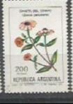 Sellos de America - Argentina -  INTERCAMBIO Serie Flores Pesos 200 Chinita del Campo SCOTT 1344