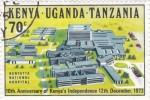Stamps : Africa : Kenya :  10º ANIVERSARIO KENYA INDEPENDIENTE