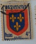 Stamps : Europe : France :  Anjou