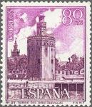 Sellos de Europa - España -  ESPAÑA 1966 1730 Sello Nuevo III Serie Turistica Torre del Oro Sevilla