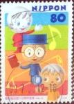 sellos de Asia - Japón -  Scott#2681 intercambio 0,40 usd  80 y. 1999