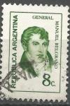 Sellos de America - Argentina -  INTERCAMBIO BELGRANO SCOTT 927