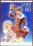 Stamps of the world : Japan :  Scott#2947f intercambio 1,00 usd  80 y. 2005
