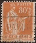 Sellos de Europa - Francia -  Alegoría de la Paz  1938  80 cents