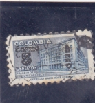 Stamps : America : Colombia :  palacio de comunicaciones
