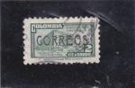 Stamps : America : Colombia :  -CORREOS-palacio de comunicaciones