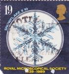 Sellos de Europa - Reino Unido -  1396 - 150 Anivº de la Sociedad real de microscopios