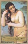 Sellos de Asia - Emiratos Árabes Unidos -  pintura desnudos
