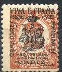 Stamps : Europe : Spain :  ESPAÑA_SCOTT 8LB2 EMISION PATRIOTICA CADIZ. $0,2