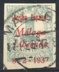 Stamps : Europe : Spain :  ESPAÑA_SCOTT 10L3 EMISION PATRIOTICA MALAGA. $0,2