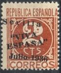 Stamps : Europe : Spain :  ESPAÑA_SCOTT 14L2 EMISION PATRIOTICA SEVILLA. $0,3