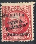 Sellos del Mundo : Europa : España :  ESPAÑA_SCOTT 14L8 EMISION PATRIOTICA SEVILLA. $1,25