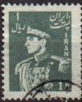 Stamps Iran -  IRAN 1951 Scott 956 Sello Retrato Militar Mohammad Reza Shah Pahlavi Usado