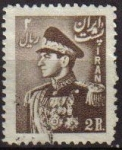 Sellos de Asia - Irán -  IRAN 1951 Scott 958 Sello Retrato Militar Mohammad Reza Shah Pahlavi Usado
