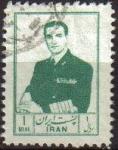 Sellos de Asia - Irán -  IRAN 1954 Scott 1003 Sello Retrato Militar Mohammad Reza Shah Pahlavi Usado