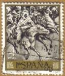 Stamps : Europe : Spain :  Mariano Fortuny Marsal - Batalla de Tetuan