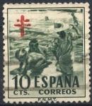 Stamps : Europe : Spain :  ESPAÑA_SCOTT RA33.01 NIÑO EN PLAYA. $0,2