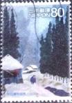 Stamps Japan -  Scott#3280f intercambio 1,50 usd  80 y. 2010