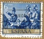 Stamps Spain -  Mariano Fortuny Marsal - La reina Cristina