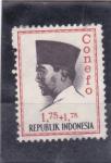 Sellos del Mundo : Asia : Indonesia : Presidente Sukarno- Conefo