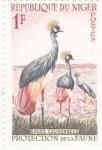Sellos del Mundo : Africa : Níger :    ave- grullas coronadas