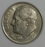 monedas de America - Estados Unidos -  1991 - P one dime