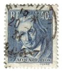 Stamps France -  Centenario de muerte de Joseph Marie Jacquard