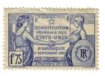 Sellos de Europa - Francia -  Constitución de EEUU de América