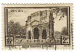 Sellos de Europa - Francia -  Arco del Triunfo (Orange)