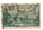 Stamps France -  Puerto de Saint  Malo