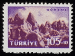 Stamps of the world : Turkey :  Turquía - Parque Nacional de Göreme y sitios rupestres de Capadocia