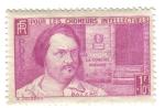 Stamps France -  Honoré de Balzac